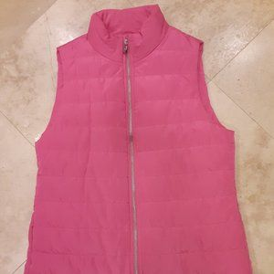 MICHAEL KORS Electric Pink Puffer Vest Small